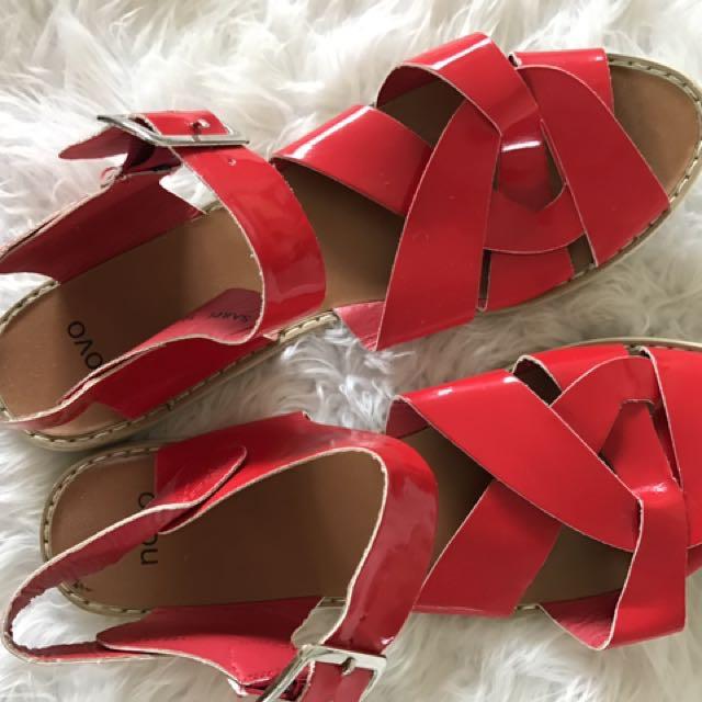Novo Red Sandals