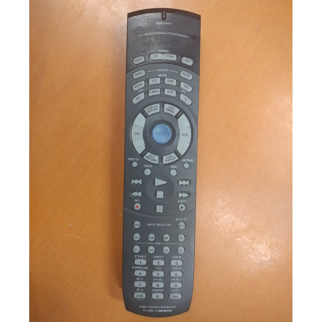 onkyo rc 392m home theater remote control home appliances tvs rh sg carousell com
