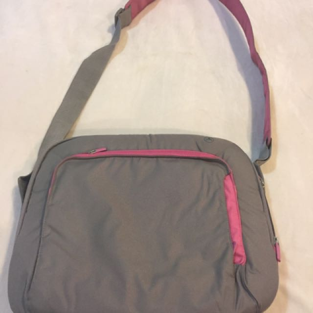 Pink And Grey Laptop Bag