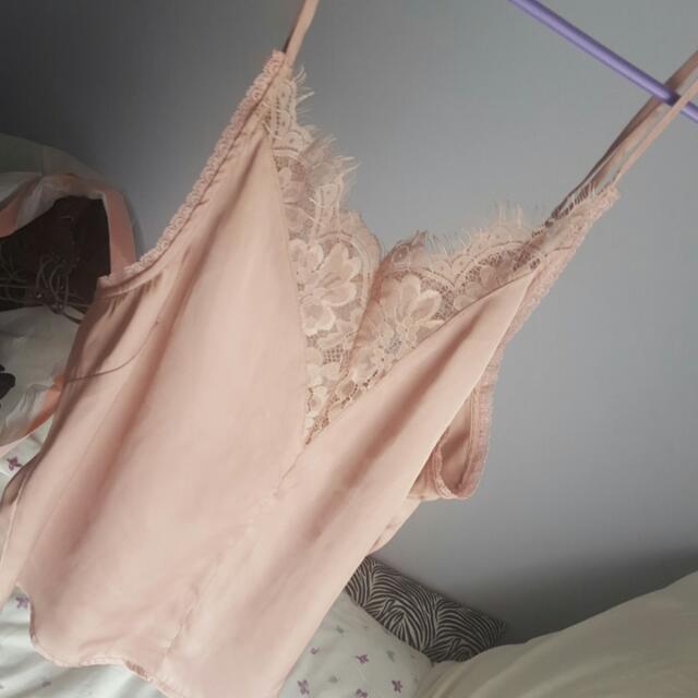 Pink Silky Cami Shirt