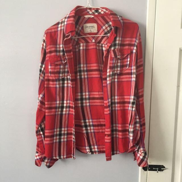 Plaid Shirt Size s