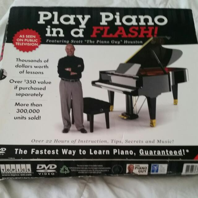 Play Piano In A Flash With Scott Houston. DVD set.