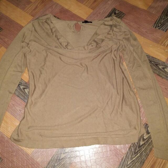 Plus Size Skin Tone  Semi Casual Shirt Long Sleeve
