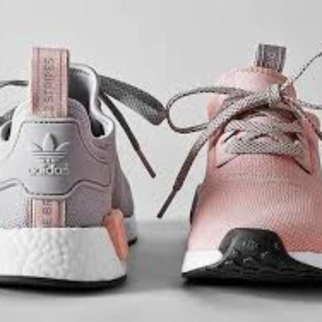 f1be513fc PO) AUTHENTIC ADIDAS NMD R1 GREY PINK