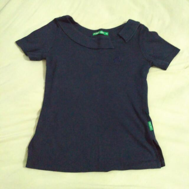 Point One Navy Top