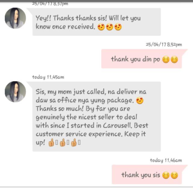 Positive feedback 😊😊 Satisfied buyer ❤❤