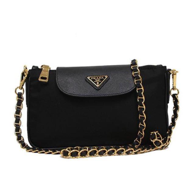ab741fd7c6 ... italy prada nylon tessuto saffiano clutch sling bag bt0779 luxury bags  wallets on carousell a6589 b6a89