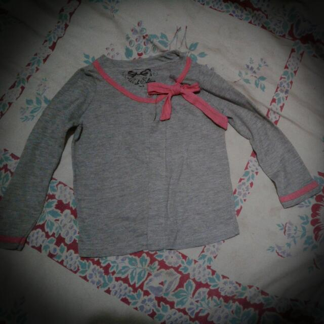 *PreLoved* Gray/Pink 2T Cardigan