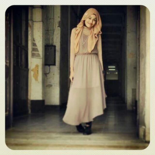 (Preloved) Long Dress Brown