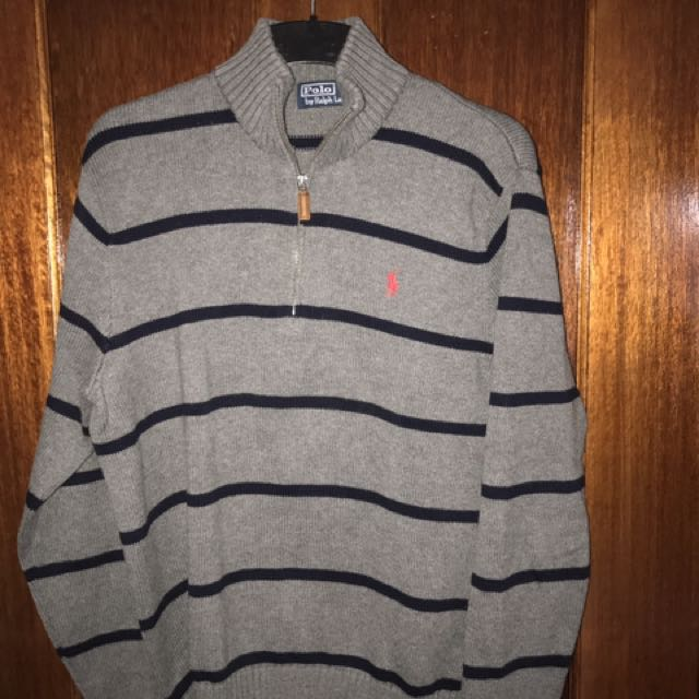 Ralph Lauren Striped zipper jumper