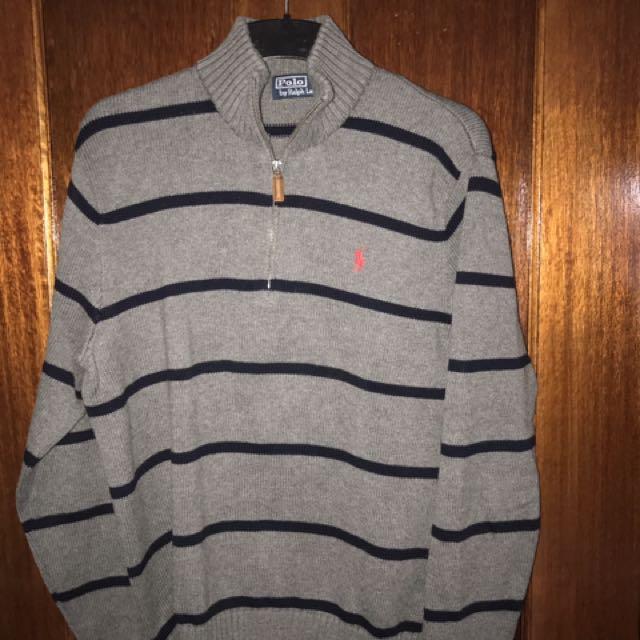 Ralph Lauren Striped zipper jumper