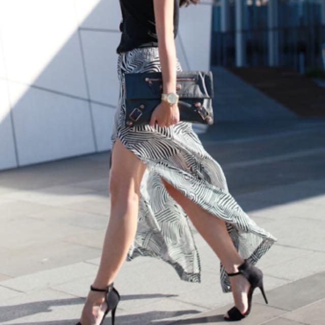 Sass And Bide Maxi Skirt Size 8