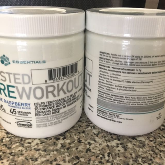 SEALED Tested Pre-Workout (45 Servings)