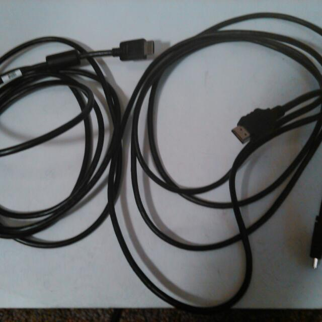 Set Of 2 Hdmi Cables 8ft