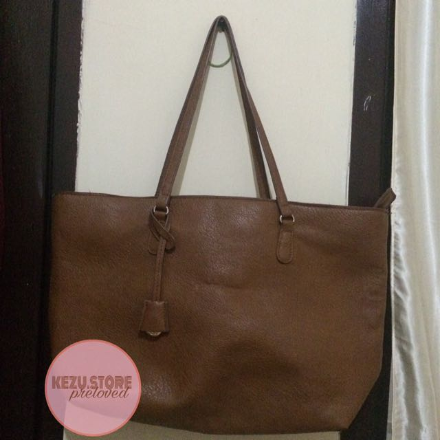 Stradivarius Shopper Bag Brown