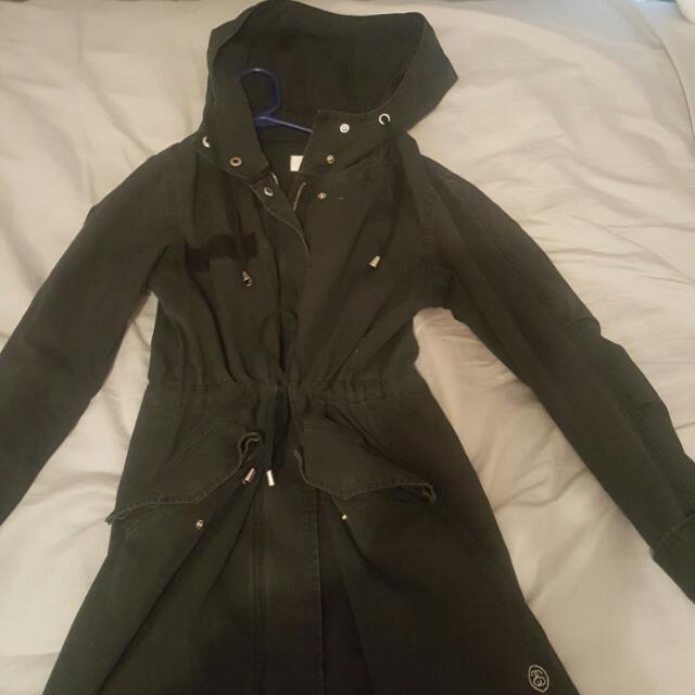 Stussy Light Denim Hoodie Jacket Size Xs