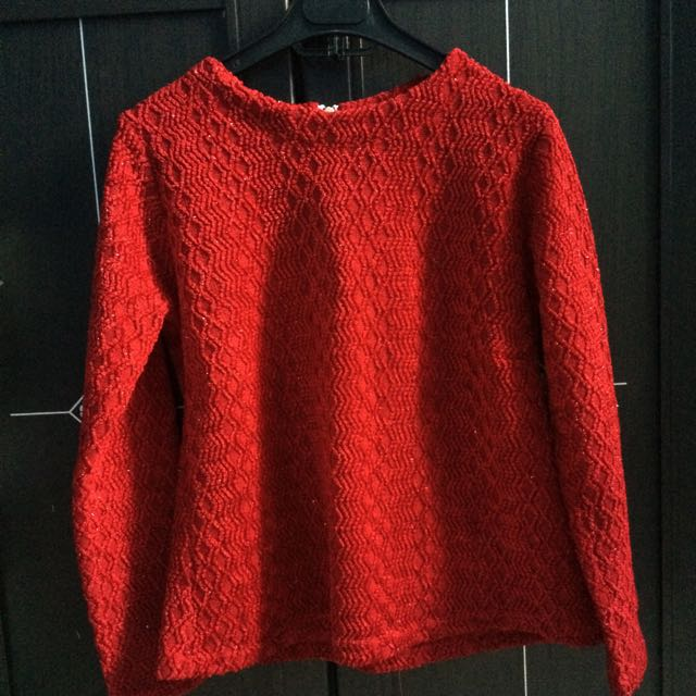 Sweater Maroon Glitter