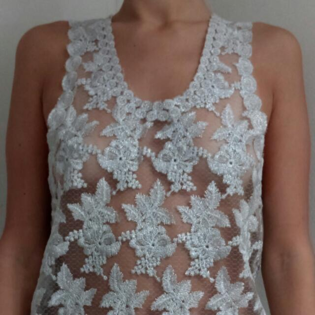 Vintage Sheer & Embroided Top