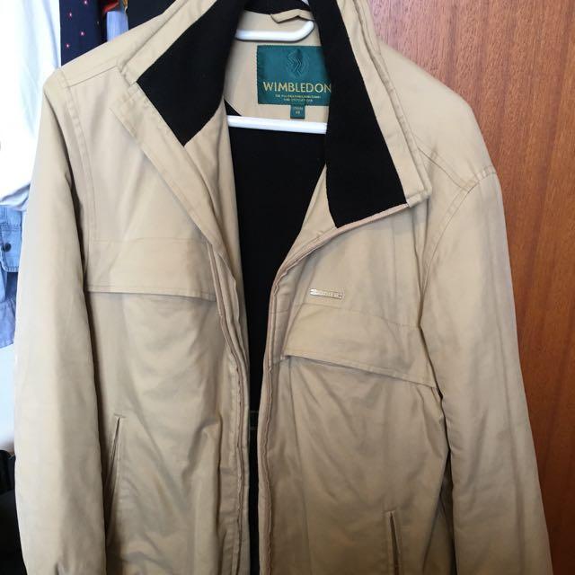 Vintage Wimbledon Cream Jacket Size Medium