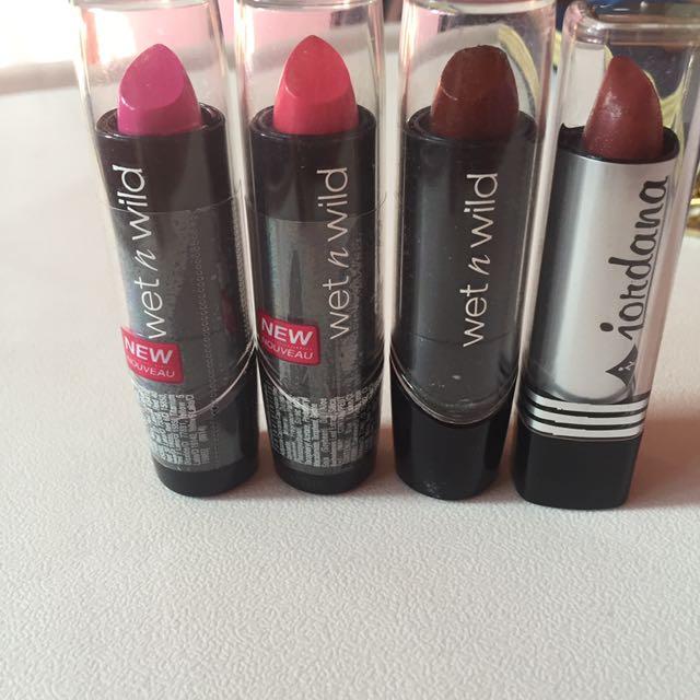 Wet N Wild & Jordana Lipstick