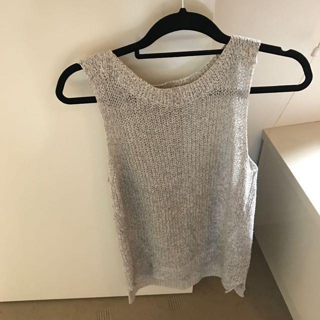 Witchery Knit Grey Top