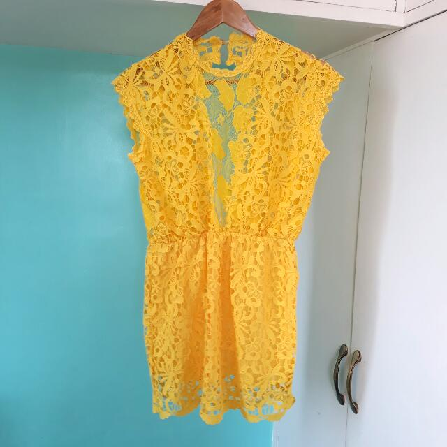 Yellow Lace MiniDress