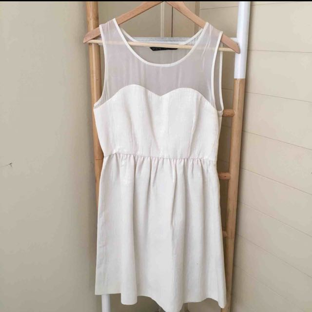 Zara Basic White Dress