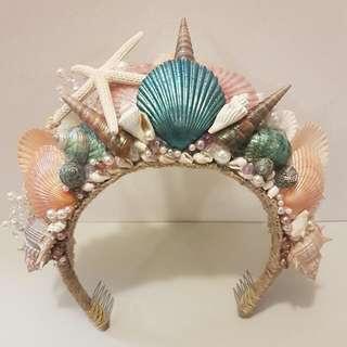 Mermaid Shell Crown Tiara Headdress