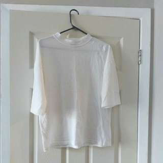 Korean Plain White Shirt
