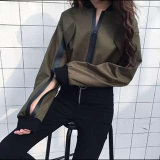 韓版拉鍊造型百搭風衣外套短夾克