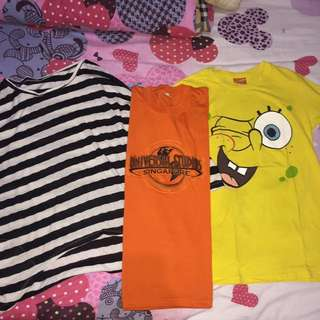 Tees (size S- Free Size) Take 3 For 150.000