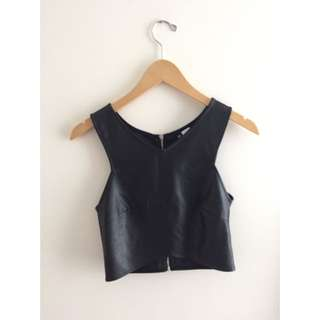 H&M Leather Crop