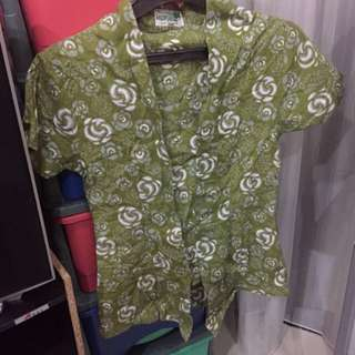 SUPER SALE - Green Flower Batik