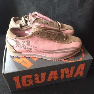 國外歐洲品牌 IGUANA 粉色麂皮運動休閒鞋(37)/球鞋/皮布鞋/運動鞋/平底鞋