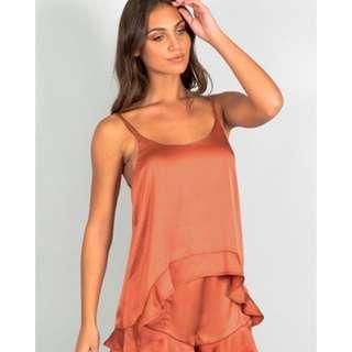 Dissh Orange Silk Set