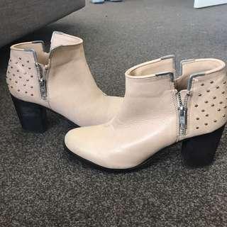 Cream Boot Heels