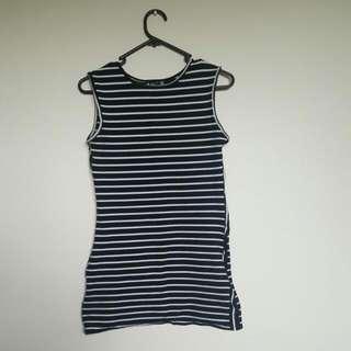 Short Stripped Dress