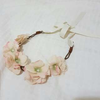 Nude Cream Floral Headpiece