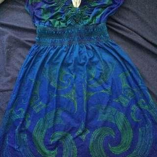 Maori Patterned Dress