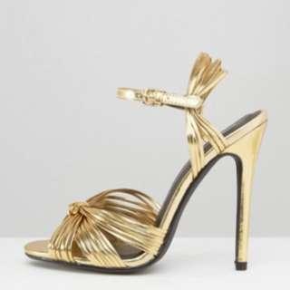 Public Desire Gold Knot Heels