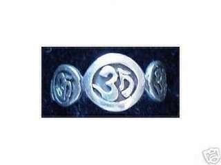 Celtic Trinity Om Hindu Shiva Vishnu Brahma Ring Yoga Buddha breathing exercise Size 12