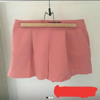 Zara Salmon Shorts