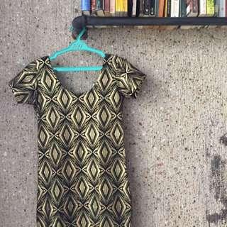 Black / Gold Skimpy Dress