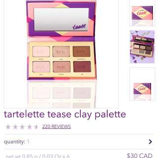 NEW - Tarte Eyeshadow Palette