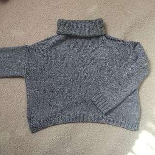 Grey Turtleneck Knit