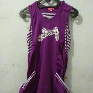 Sporty Casual Purple Dress