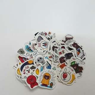 Line Laptop Stickers
