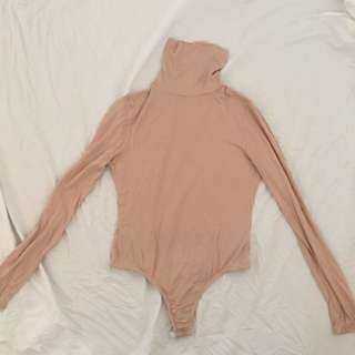 Skin Fitted Nude Turtle Neck Body