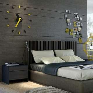 牆上貼金屬設計時計 On Time Wall Clock