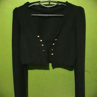 Black Half Body Cardigan